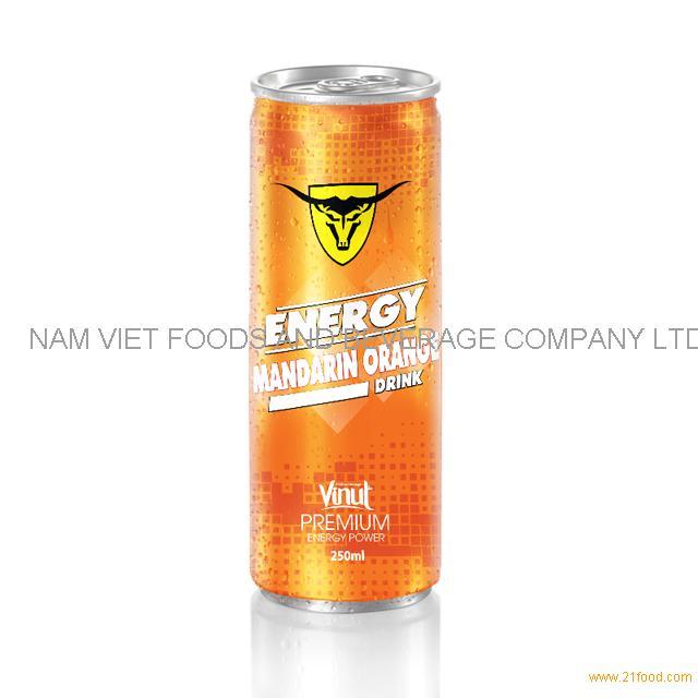 250ml Premium Energy Drink Mandarin Orange