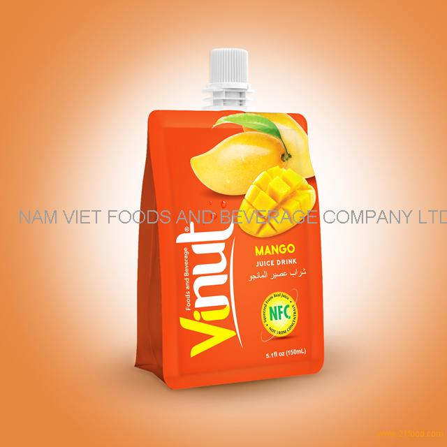 150ml 100% Pouches Mango Juice Drink