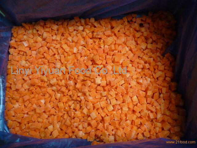 Hot Selling Fresh Crop Premium Quality IQF Diced Carrots