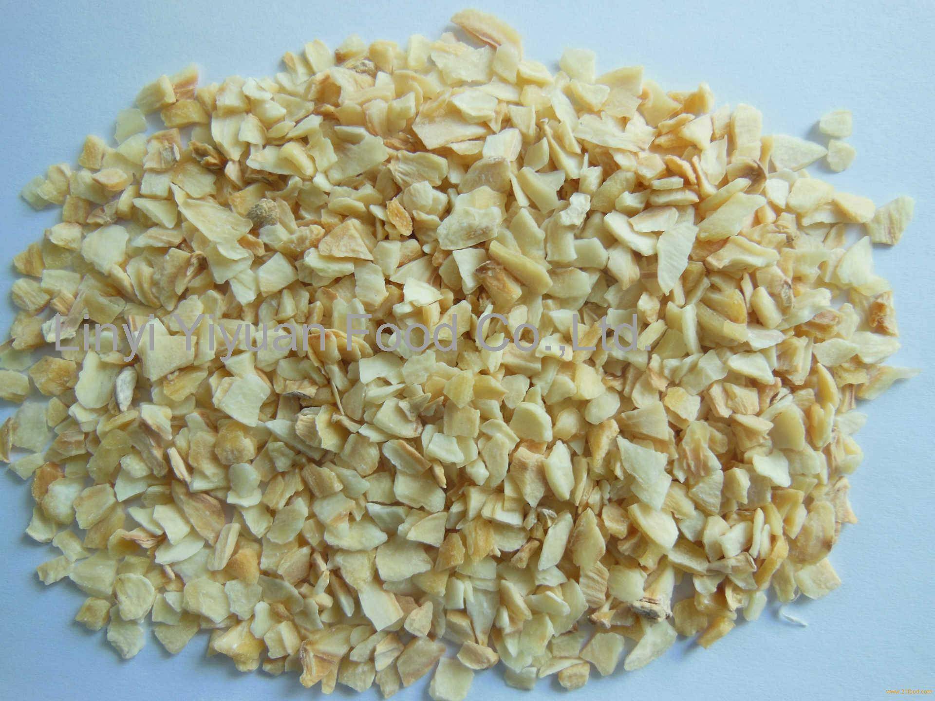 First class garlic granule without root material garlic granule pure white garlic