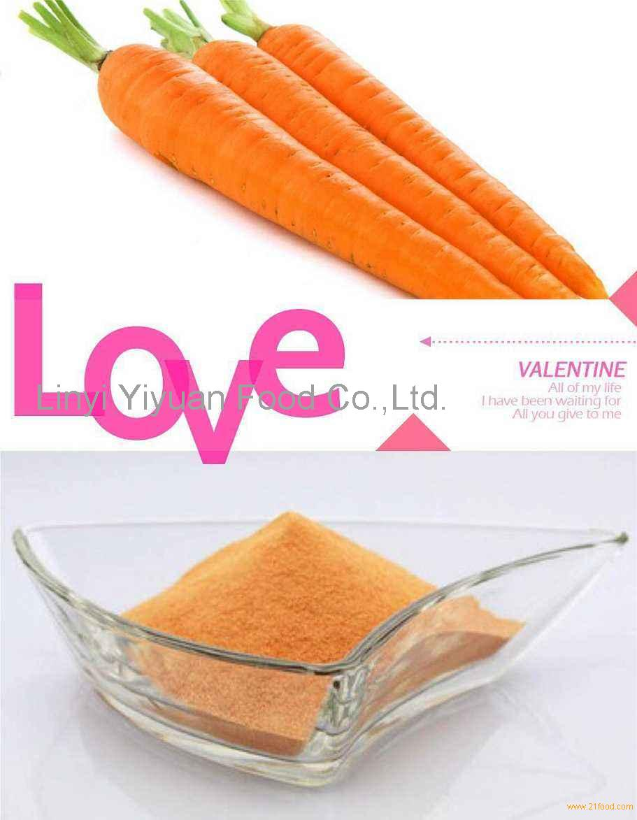 High Quality Natural Dehydrated Carrot Fiber Powder Organic Carrot Powder