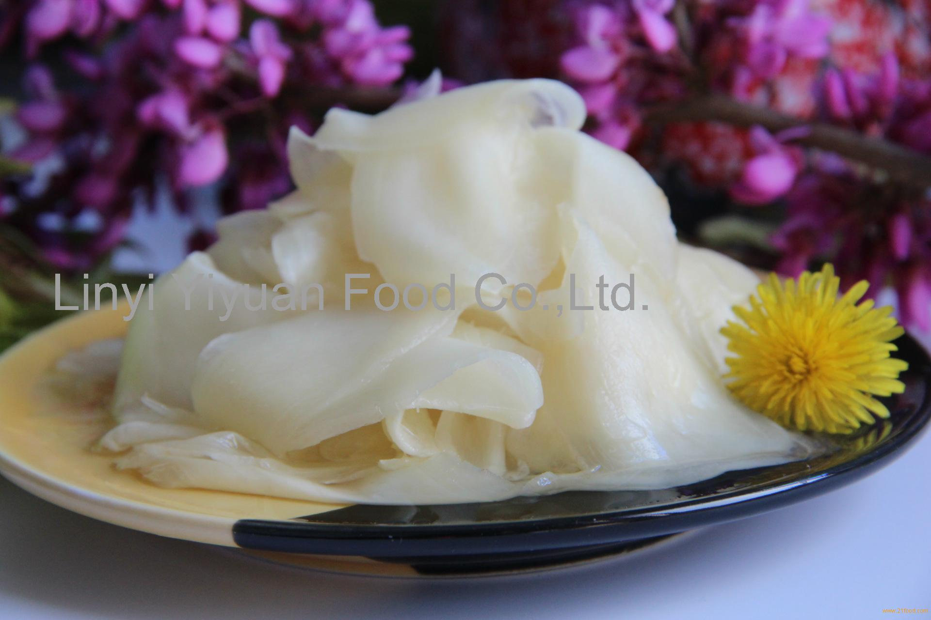 grade A pickled pink sushi ginger from Shandong