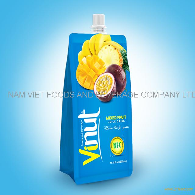 500ml Pouches Mix Juice Drink