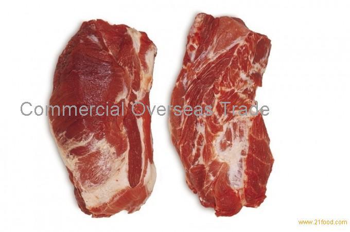 Frozen pork collar, boneless, skinless from Brazil. 30% discount