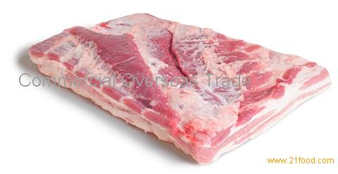 Frozen Pork Belly, Single Ribbed, Skinless from Brazil. 30% discount