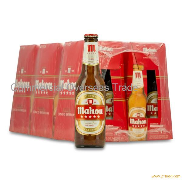 Mahou beer (bottle / cans) on sale, 30% discount