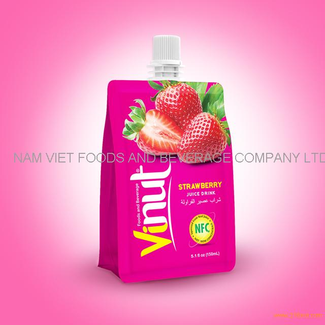 150ml 100% Pouches Strawberry Juice Drink