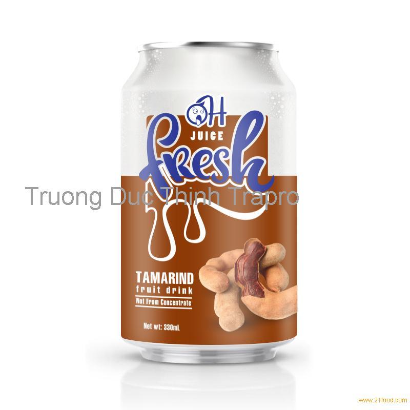 330ml OH Tamarind Fruit Juice - Manufacturer Beverage from Vietnam - Fruit Juice Factory
