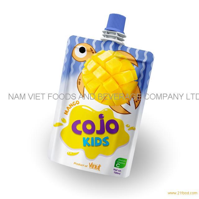 100ml Cojo Kids Pouches Mango Juice Drink