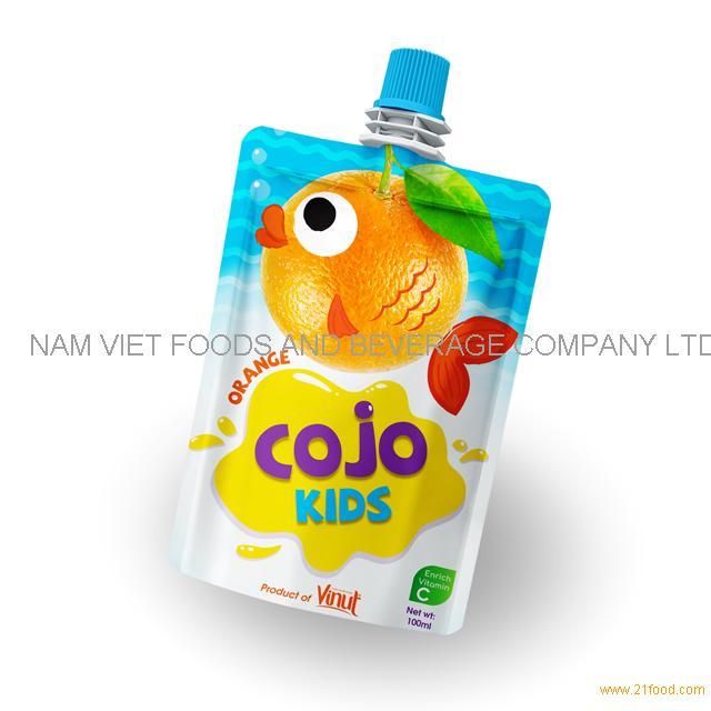 100ml Cojo Kids Pouches Orange Juice Drink