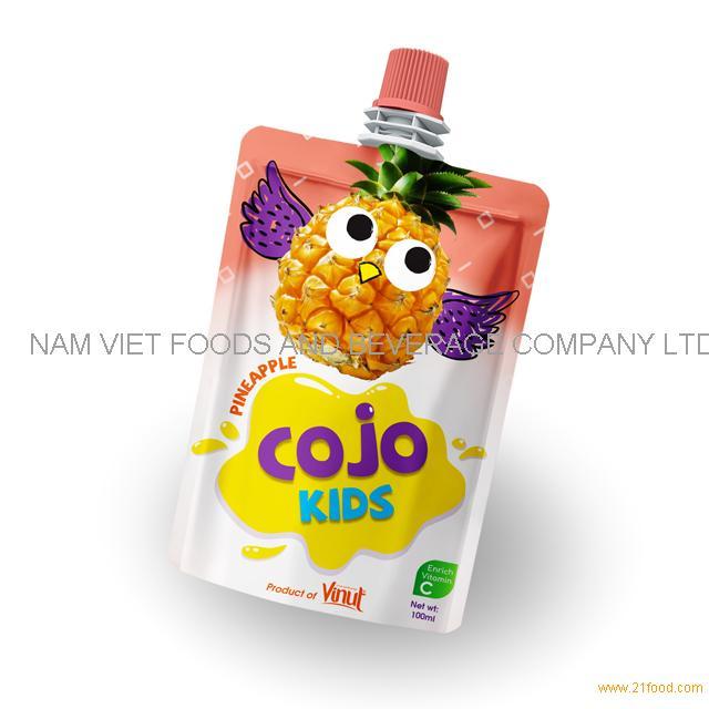 100ml Cojo Kids Pouches Pineapple Juice Drink