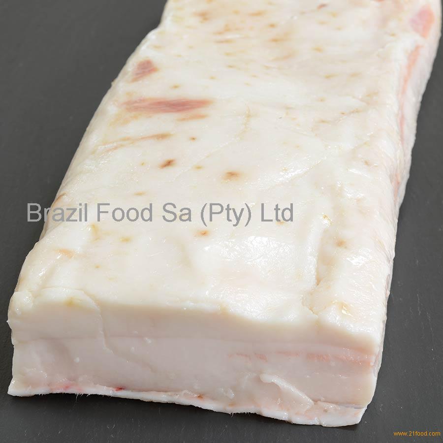 Frozen pork back fat rind on