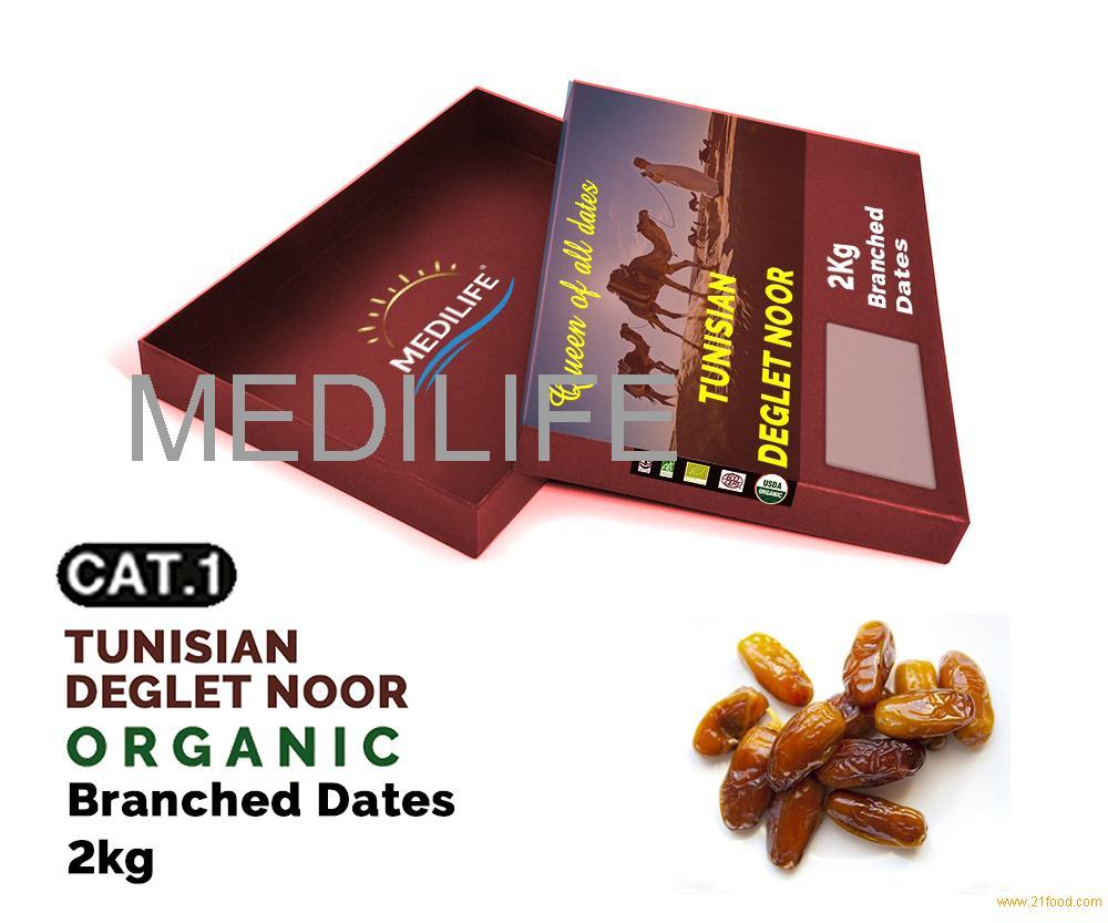 Organic Branched Dates 2 kg Carton box ,New Crop 2018 ; Dates