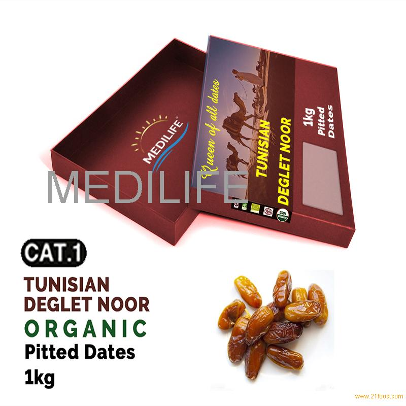 Organic Pitted Dates , Carton box 1 Kg, Seedless Organic Dates