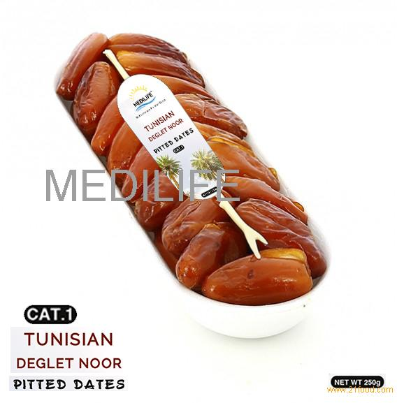 Pitted Dates, High Quality Tunisian Dates 250 gr