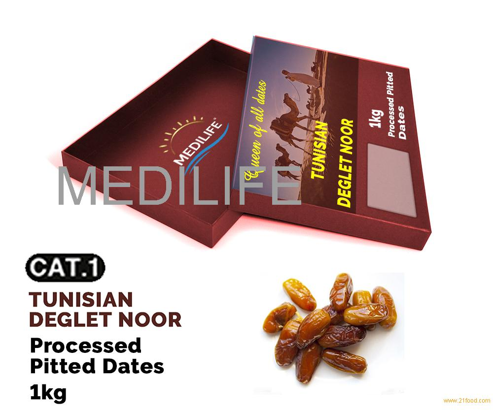 Processed Pitted Dates ,Tunisian Dates 1 kg carton box