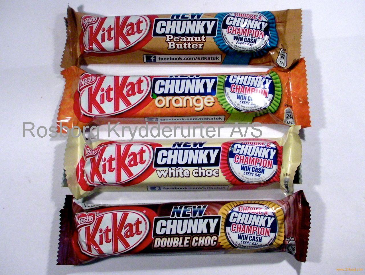 Kit Kat Chunky White and kit kat chunky peanut butter 42g