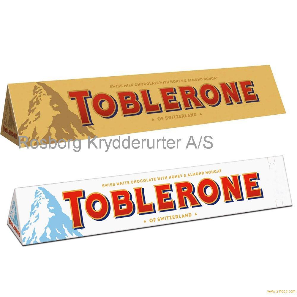 Toblerone Swiss Chocolate Milk White Dark Crunchy Almond Fruit