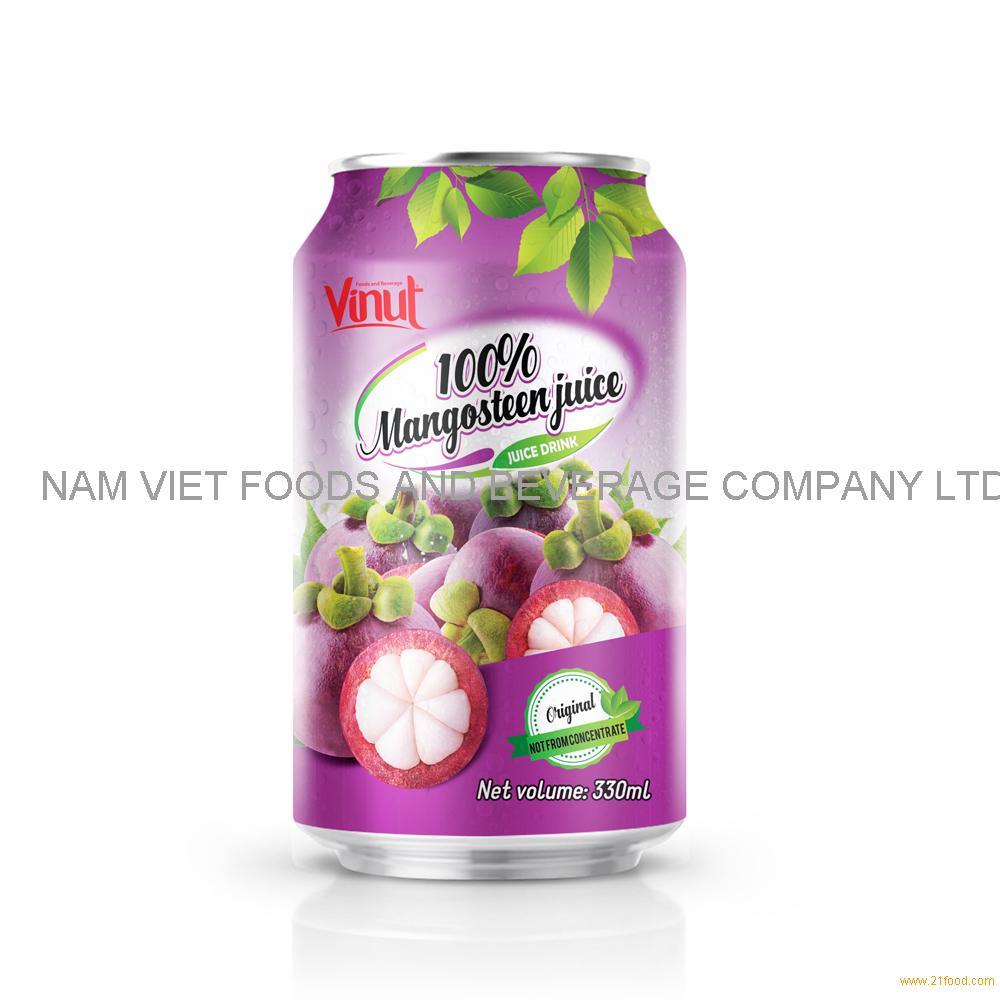 330ml VINUT 100% Mangosteen Juice Drink can