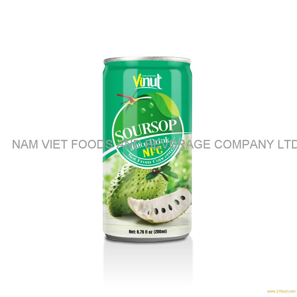 6.76 fl oz VINUT NFC Soursop Juice Drink