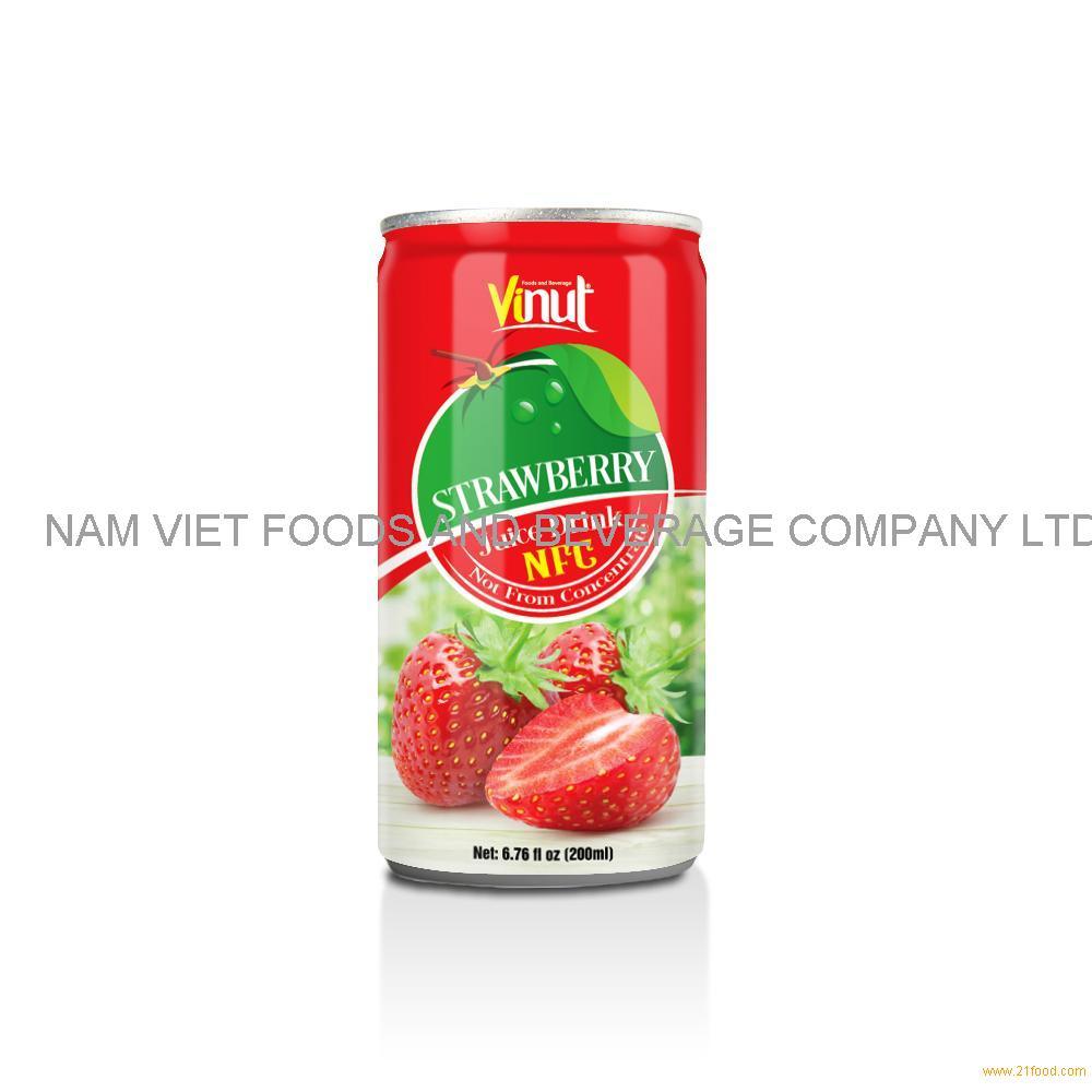 6.76 fl oz VINUT NFC Strawberry Juice Drink