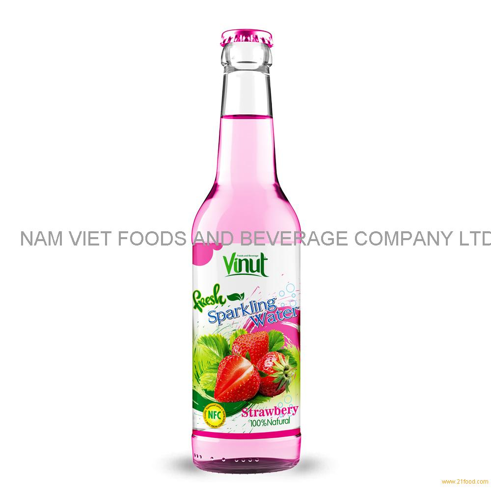 500ml VINUT Bottle Fresh Strawberry juice Sparkling water