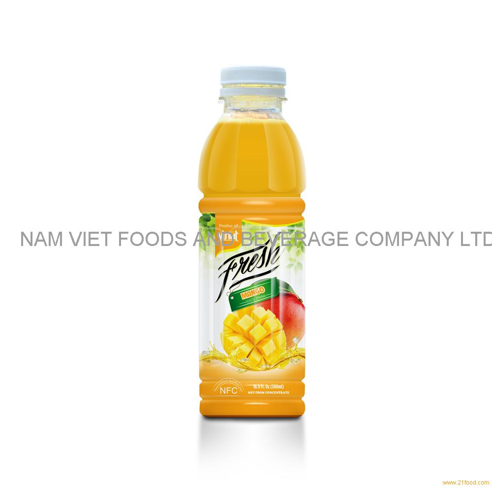 16.9 fl oz VINUT Bottle Fresh Mango juice drink with pulp