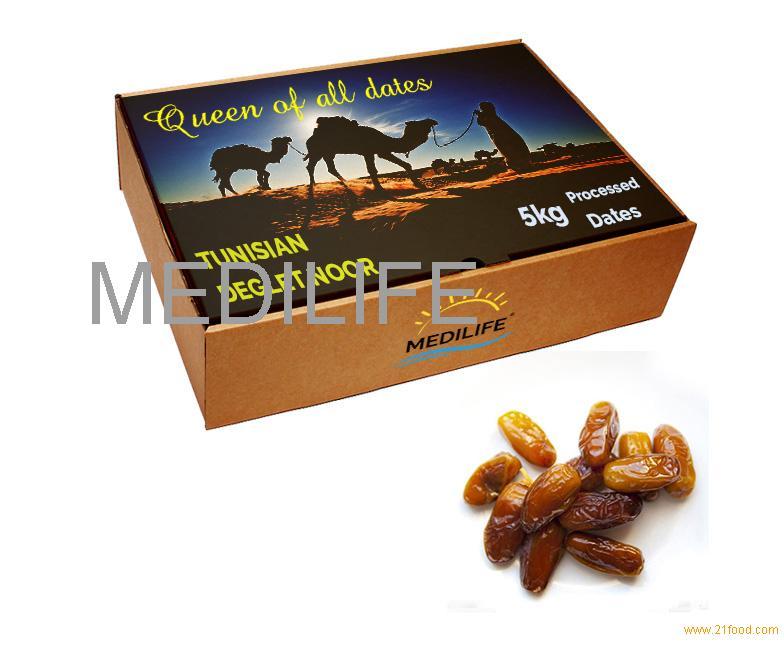 Processed Dates Deglet Noor, 5 Kg Carton