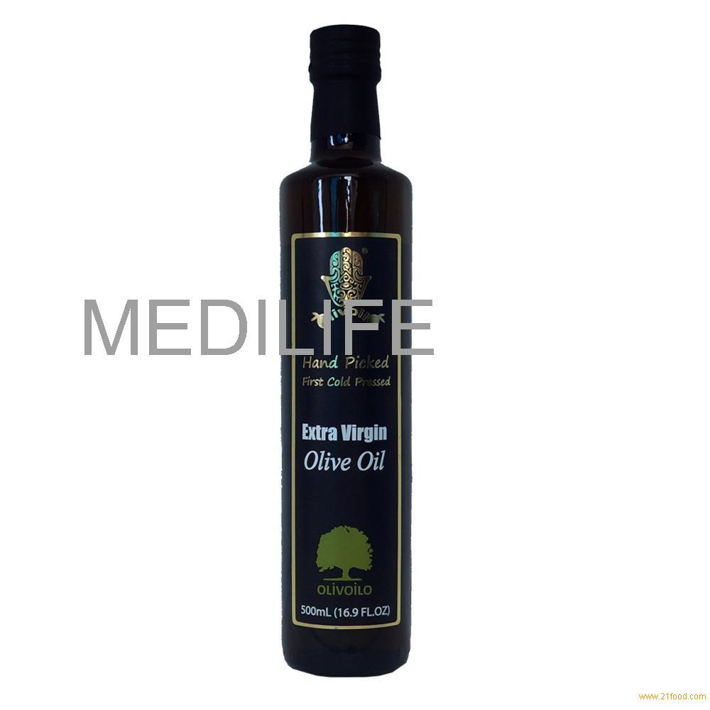Extra Virgin Olive Oil in Bulk, 500 ml Dorica Glass Bottle