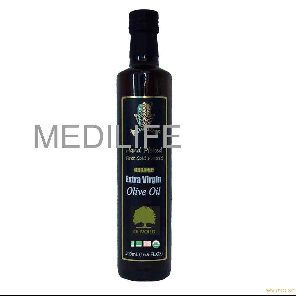 Certified Organic Extra Virgin Olive Oil, 100% pure Olive Oil 500 ML.