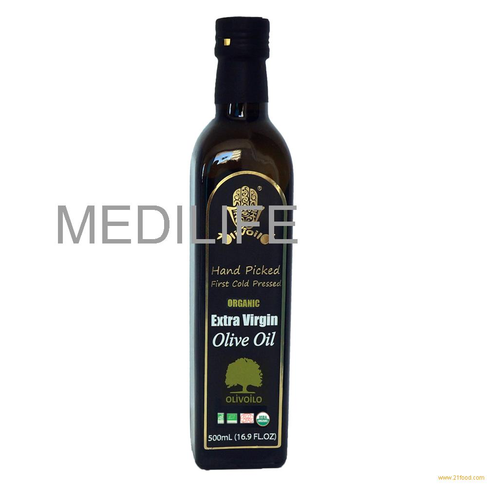 Organic Extra Virgin Olive Oil, 500 ml Bottle. FDA certified