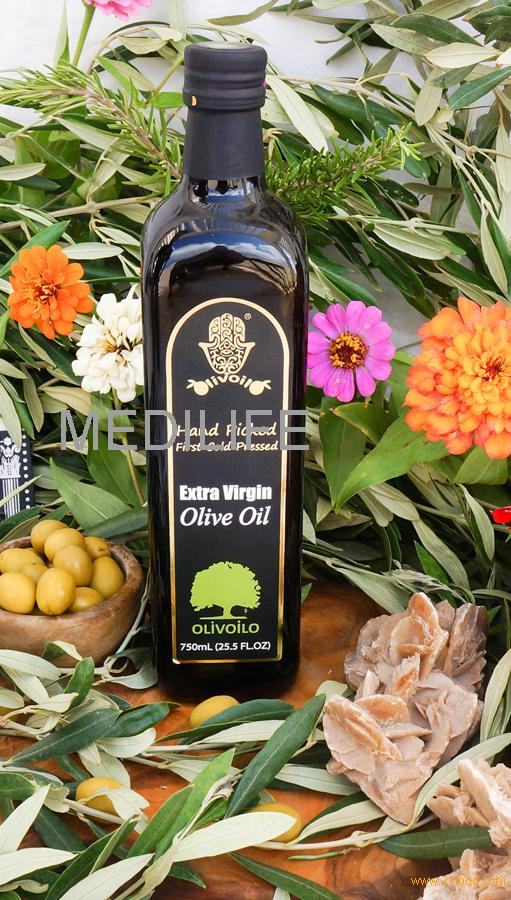 Extra Virgin Olive Oil in Bulk For Sale, 750mL Bottle, 1st Cold Press High Quality Olive Oil. Health