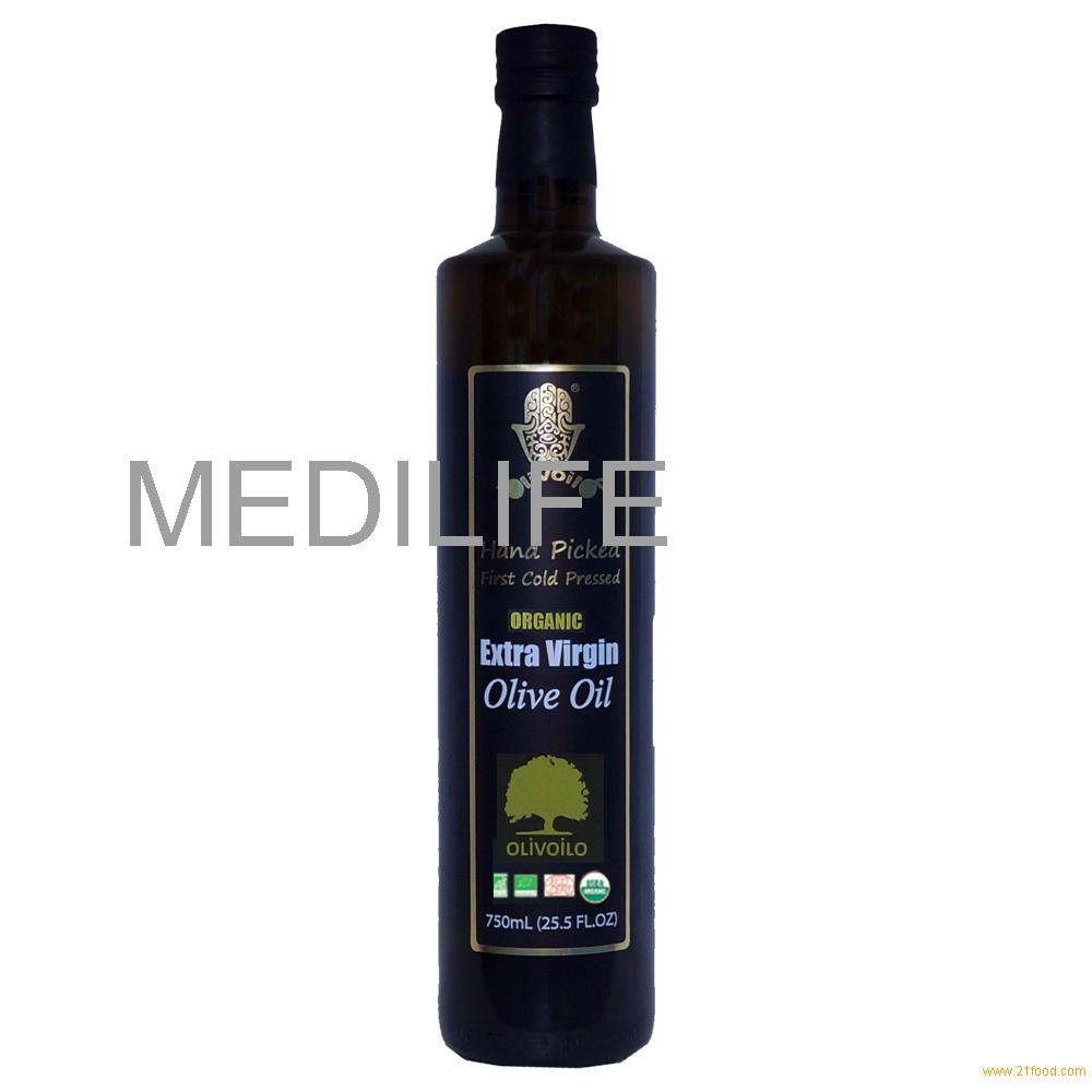 Premium Quality Organic Extra Virgin Olive Oil, 750mL , 0.3% Acidity, Organic Olive Oil Extra Virgin
