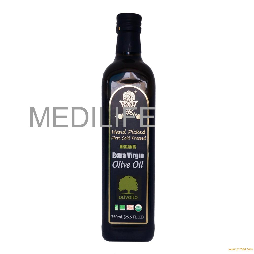 Organic Olive Oil in Fancy and beautiful Bottle. New Olive Oil 750mL