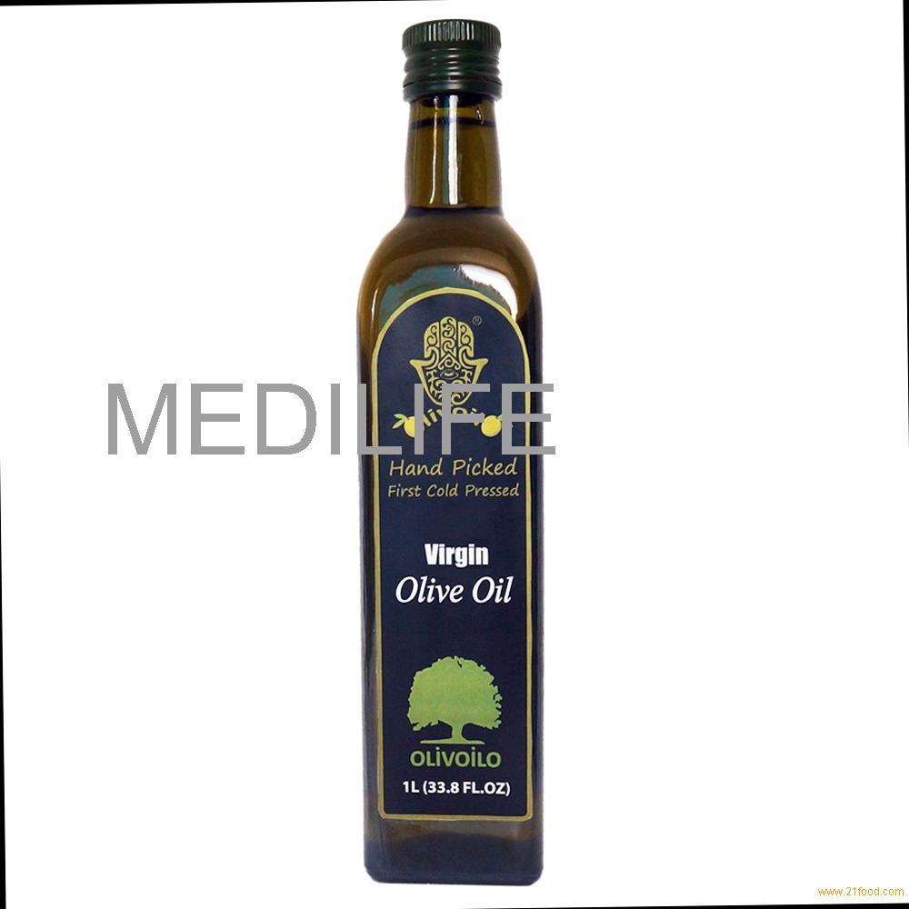 Virgin Olive Oil in 1L Marasca Glass Bottle