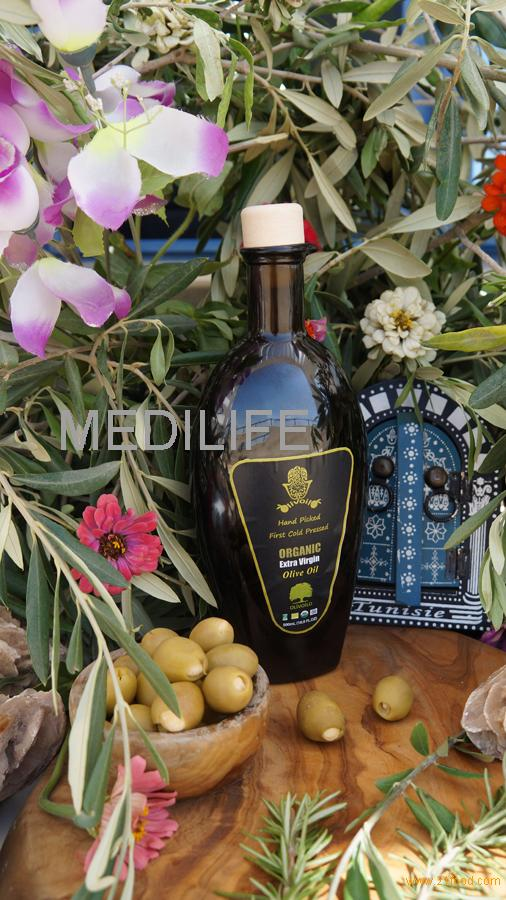 Certified Organic Extra Virgin Olive Oil,Golden Olive Oil in 500 mL. Mago Dark Glass bottle