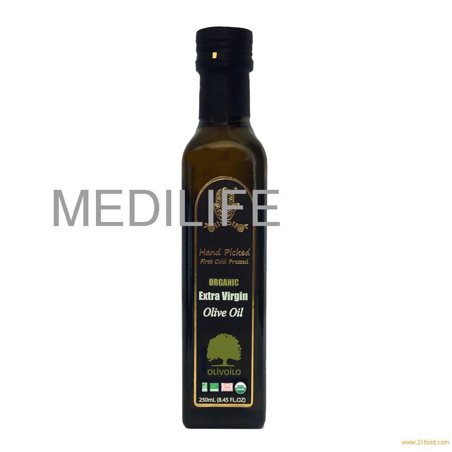 Organic Extra Virgin Olive Oil 250 mL Bottle.
