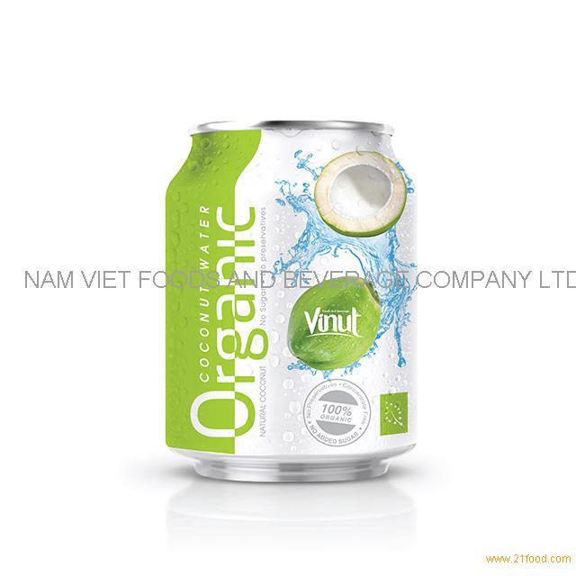 250ml Organic Coconut Water - no Sugar, No preservative( EU Organic Certification)