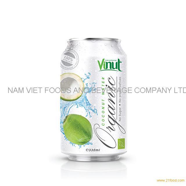 330ml Organic Coconut Water - no Sugar No preservative ( EU Organic Certification)