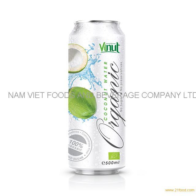 500ml Organic Coconut Water - no Sugar, No preservative ( EU Organic Certification)