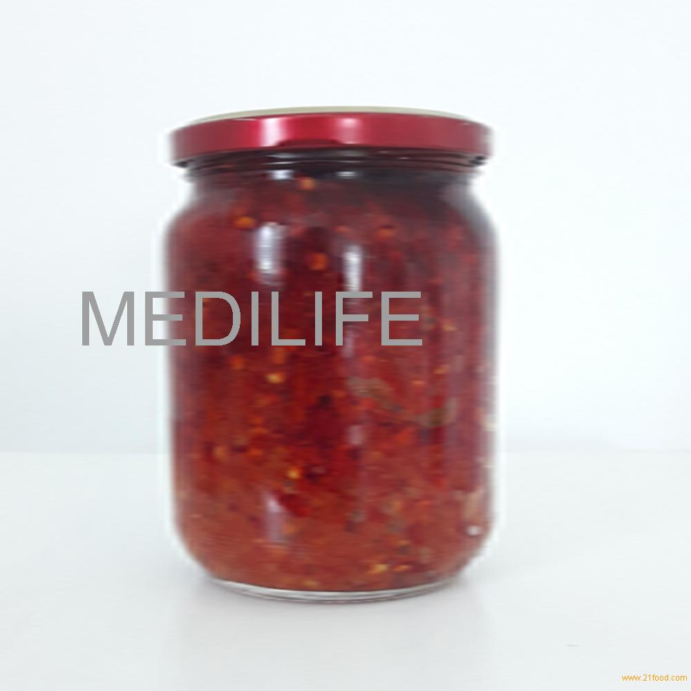 Traditional Harissa , Hot Pepper Sauce , Glass Jar 200 gr