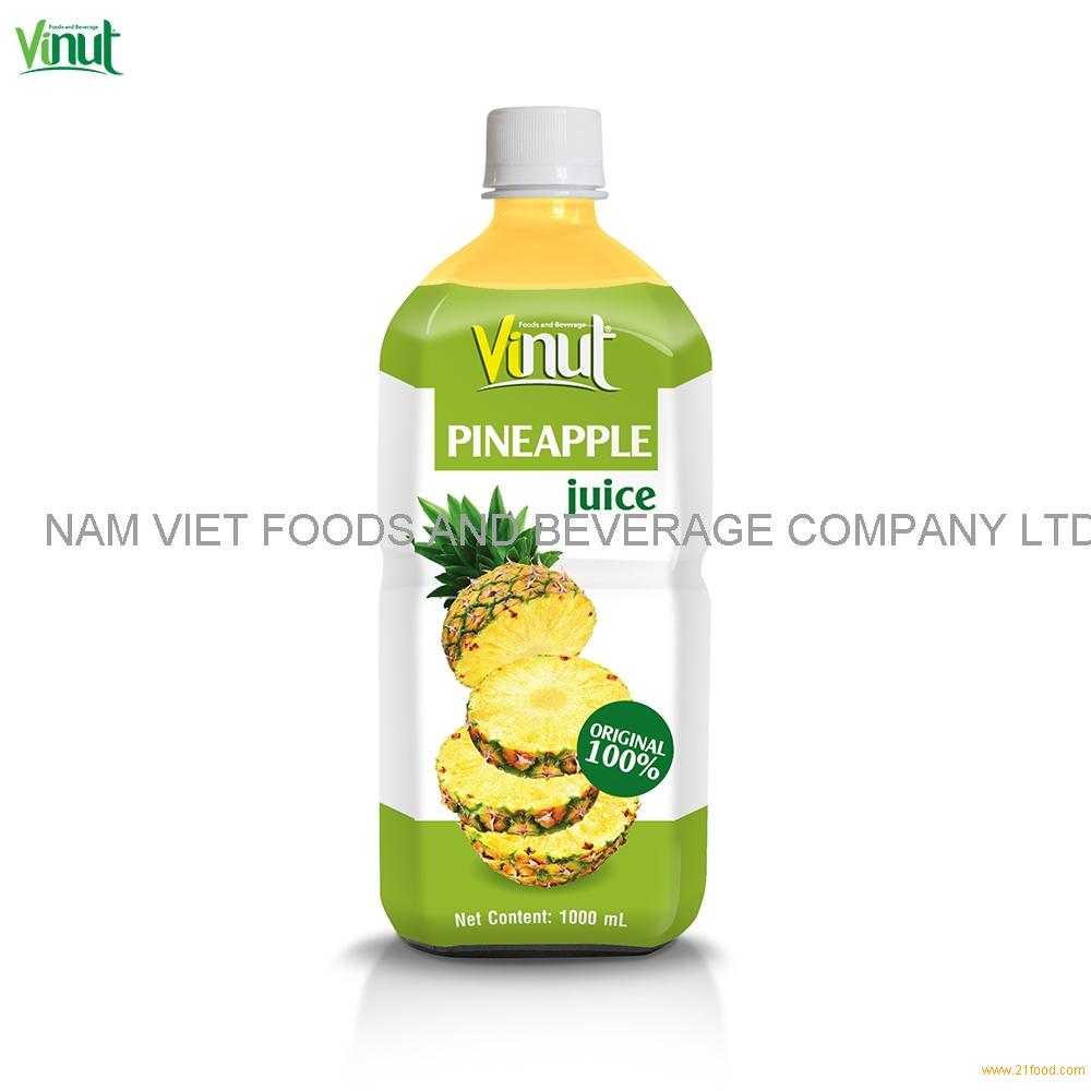 1L VINUT Original Bottle Pineapple Juice Drink