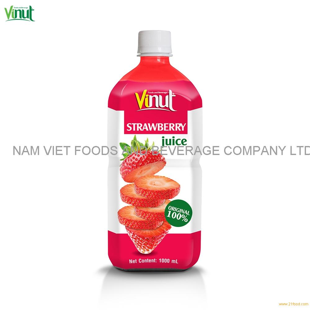 1L VINUT Original Bottle Strawberry Juice Drink