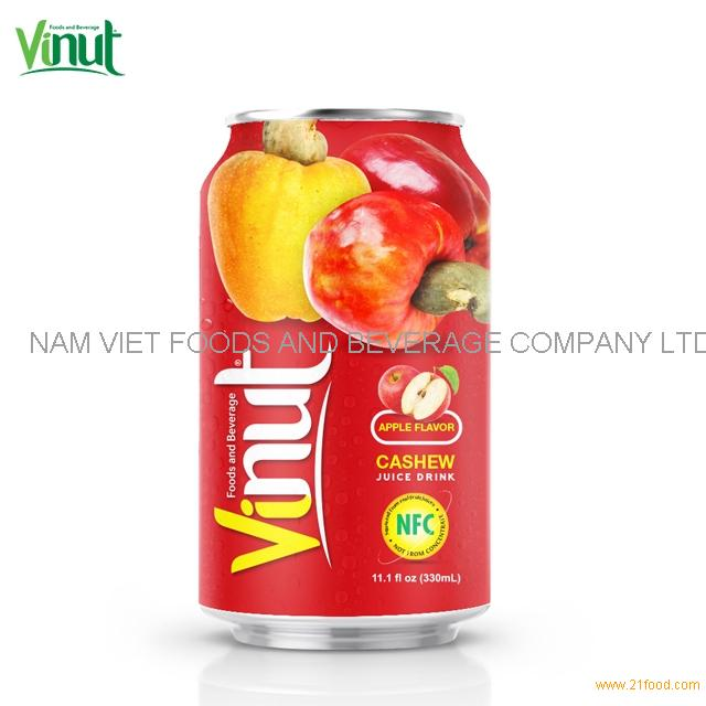 330ml VINUT NFC Cashew Juice Drink with Apple flavour