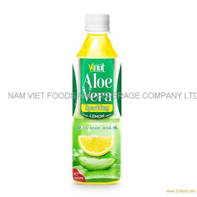 500ml Original Bottle Aloe Vera Drink Sparkling with Lemon Juice