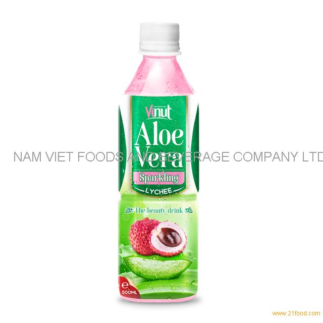 500ml Original Bottle Aloe Vera Drink Sparkling with Lychee Juice