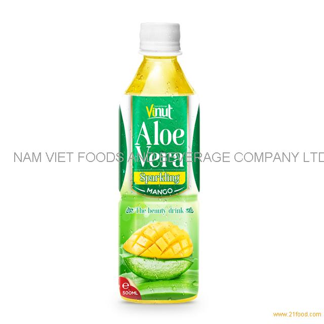 500ml Original Bottle Aloe Vera Drink Sparkling with Mango Juice