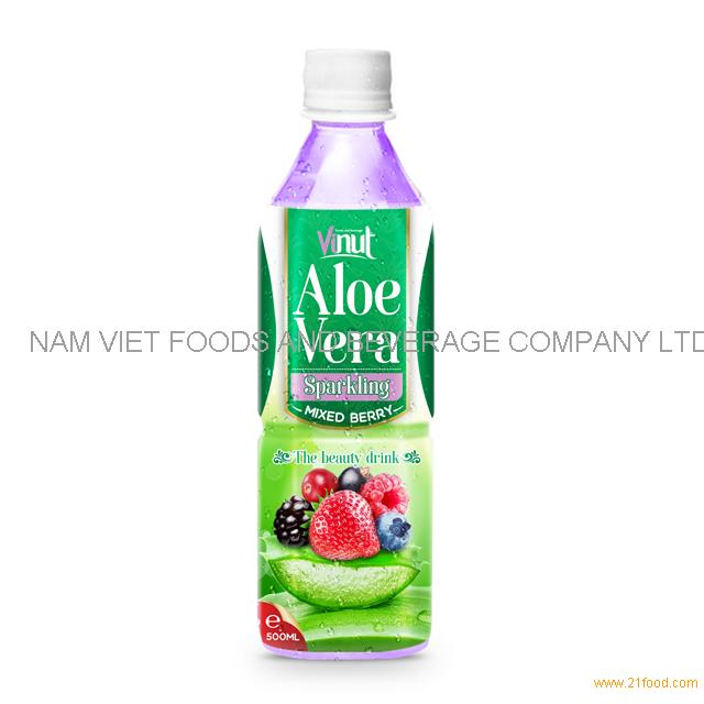 500ml Original Bottle Aloe Vera Drink Sparkling with Mixed berry Juice
