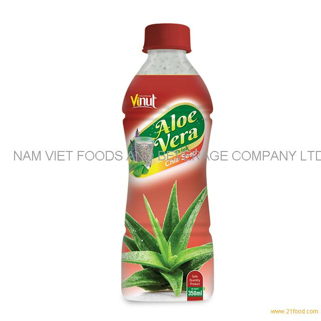 350ml Bottle Natural Aloe Vera Juice with Chia seed juice