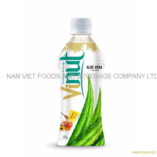 350ml Bottle Natural Aloe Vera Juice with Honey flavor